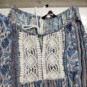 Cute boho maxi dress brand new size M